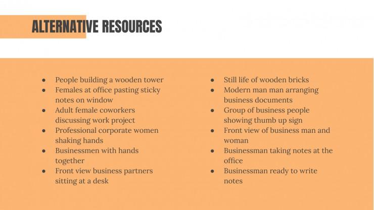 Conseil en ressources humaines : Modèles de présentation