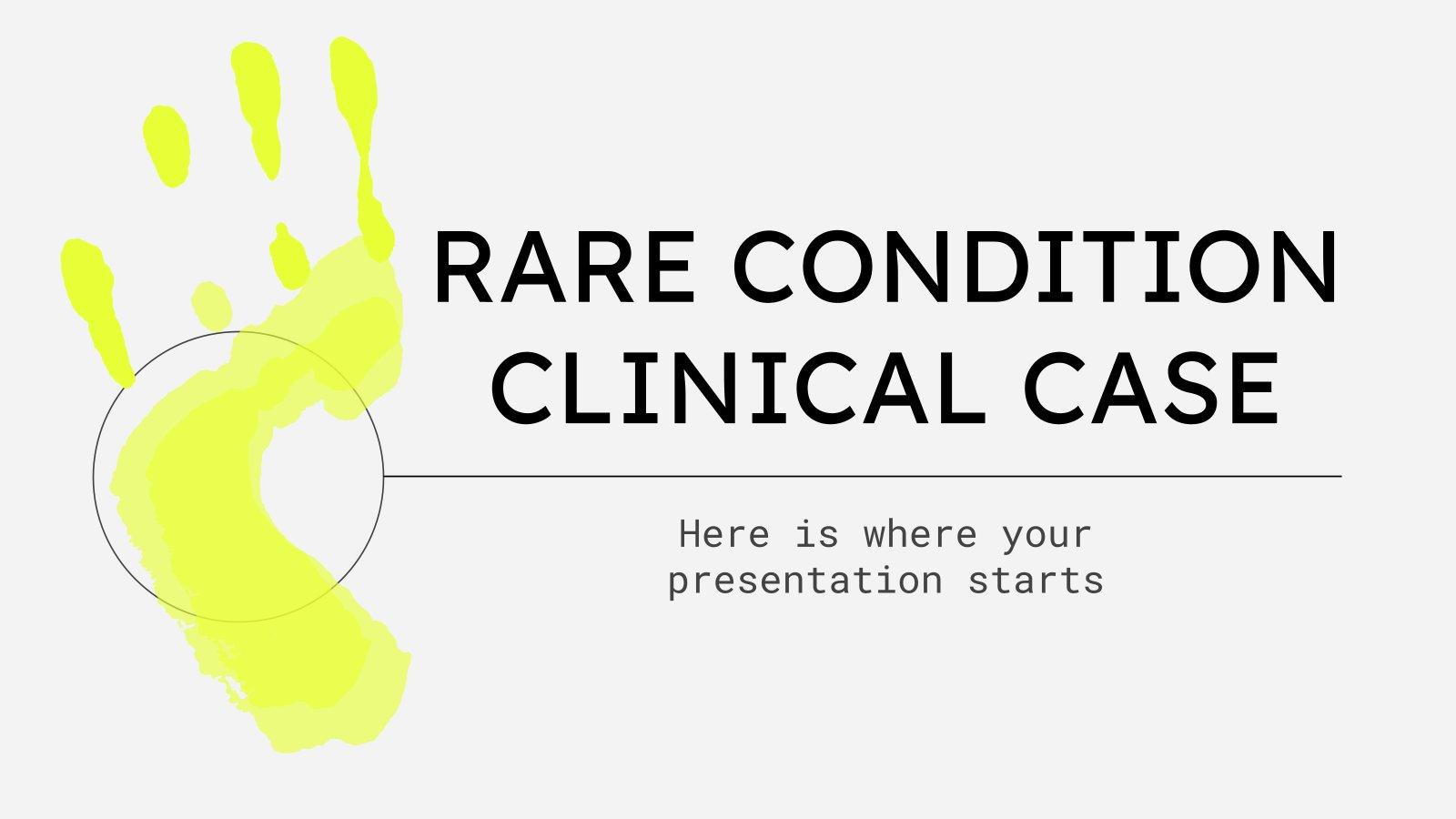 Cas clinique d'une maladie rare : Modèles de présentation