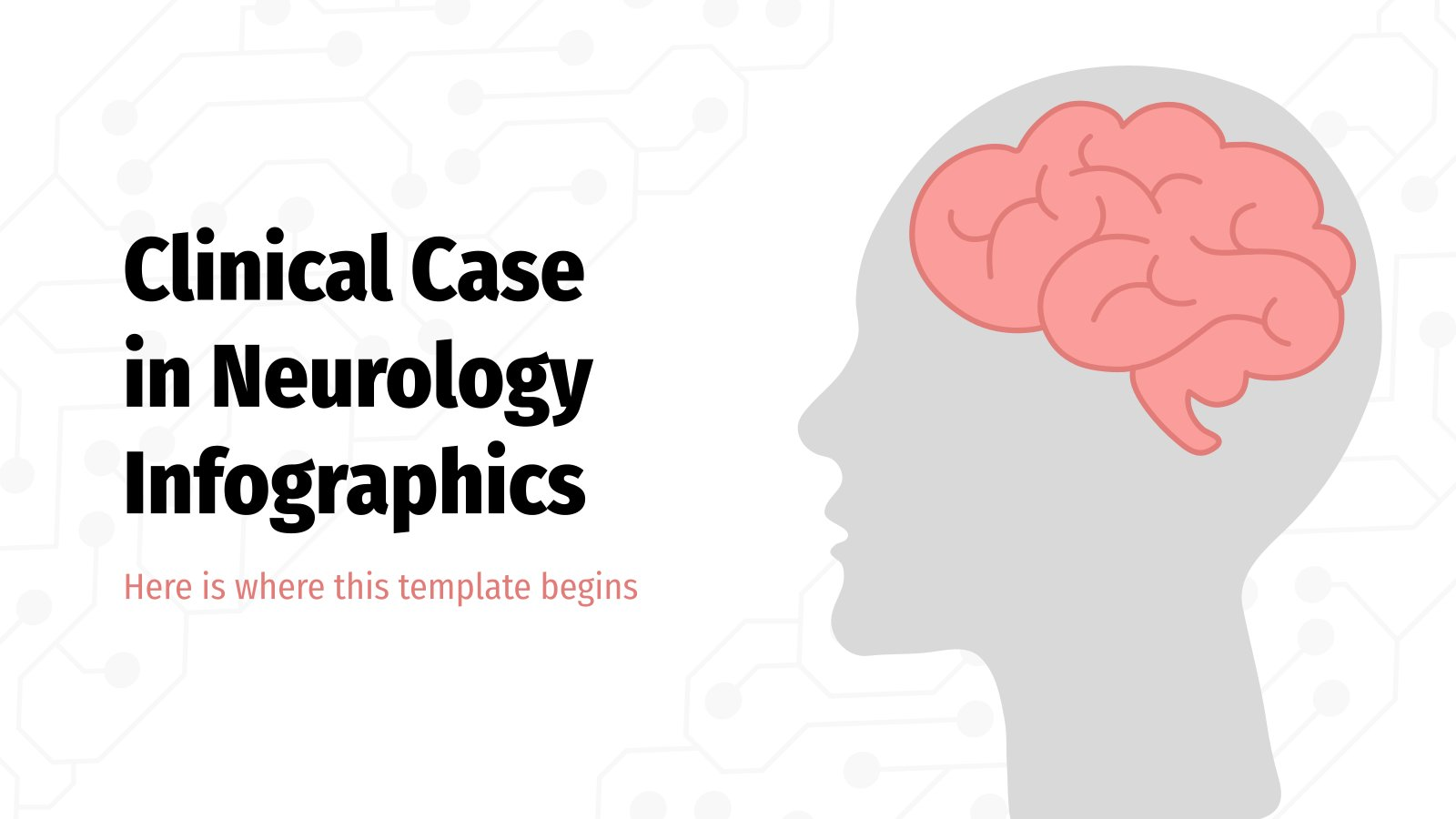 Clinical Case in Neurology Infographics presentation template