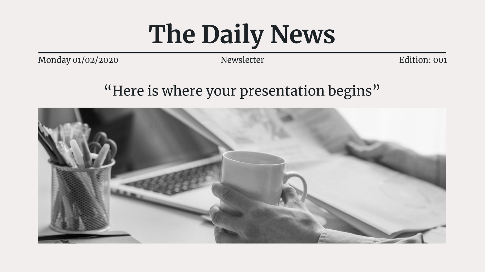 The Daily News presentation template