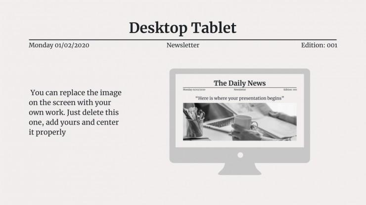 Modelo de apresentação Notícias diárias