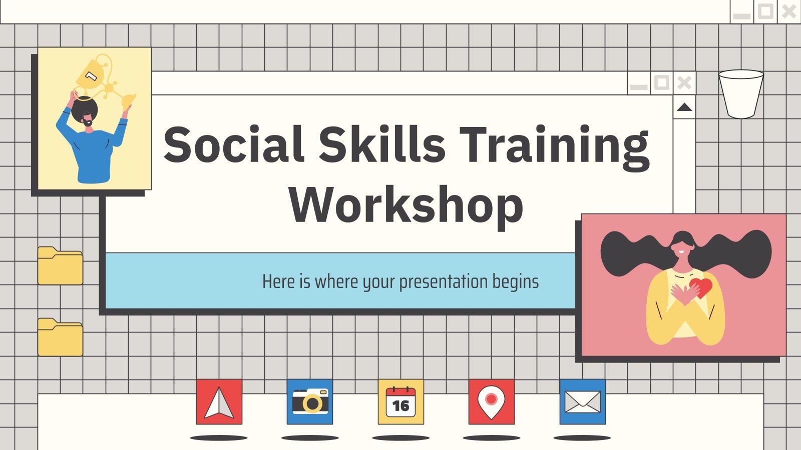 Social Skills Training Workshop presentation template