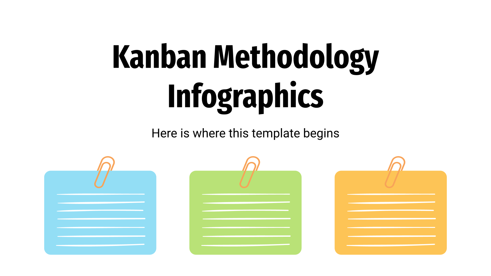 Kanban Methodology Infographics presentation template