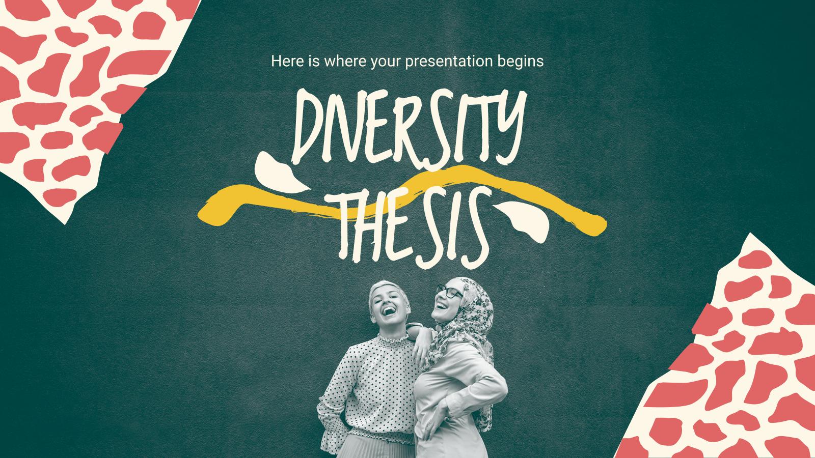 Plantilla de presentación Tesis sobre diversidad cultural