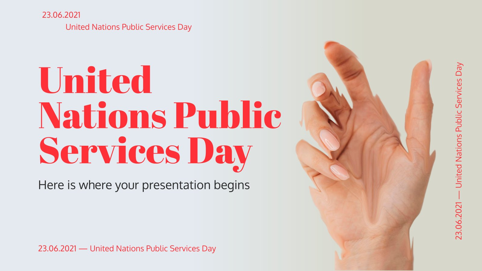 Tag des öffentlichen Dienstes der Vereinten Nationen Präsentationsvorlage
