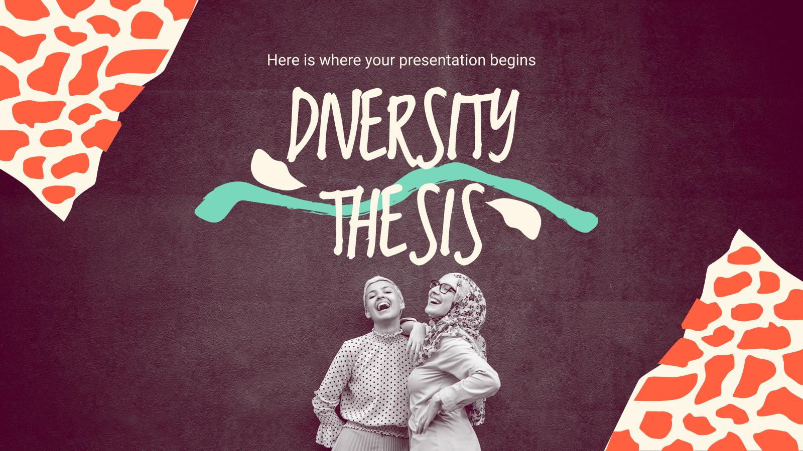 Thèse sur la diversité : Modèles de présentation