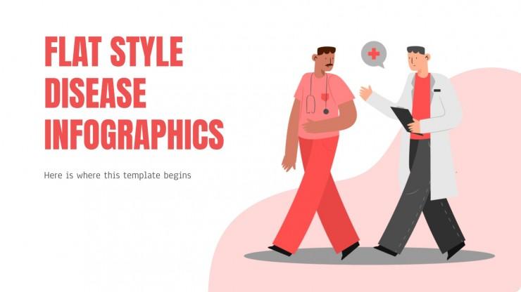 Flat Style Disease Infographics
