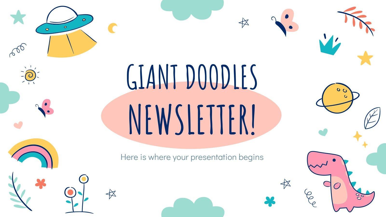 Giant Doodles Newsletter presentation template