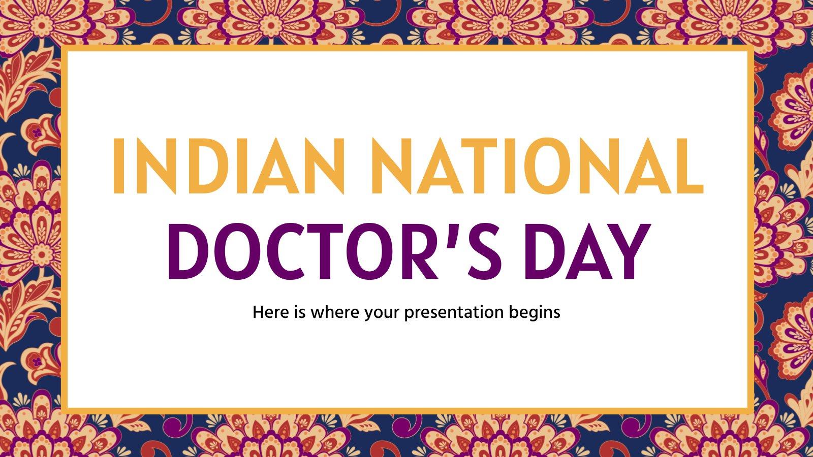 Indischer Nationaler Tag der Ärzte Präsentationsvorlage