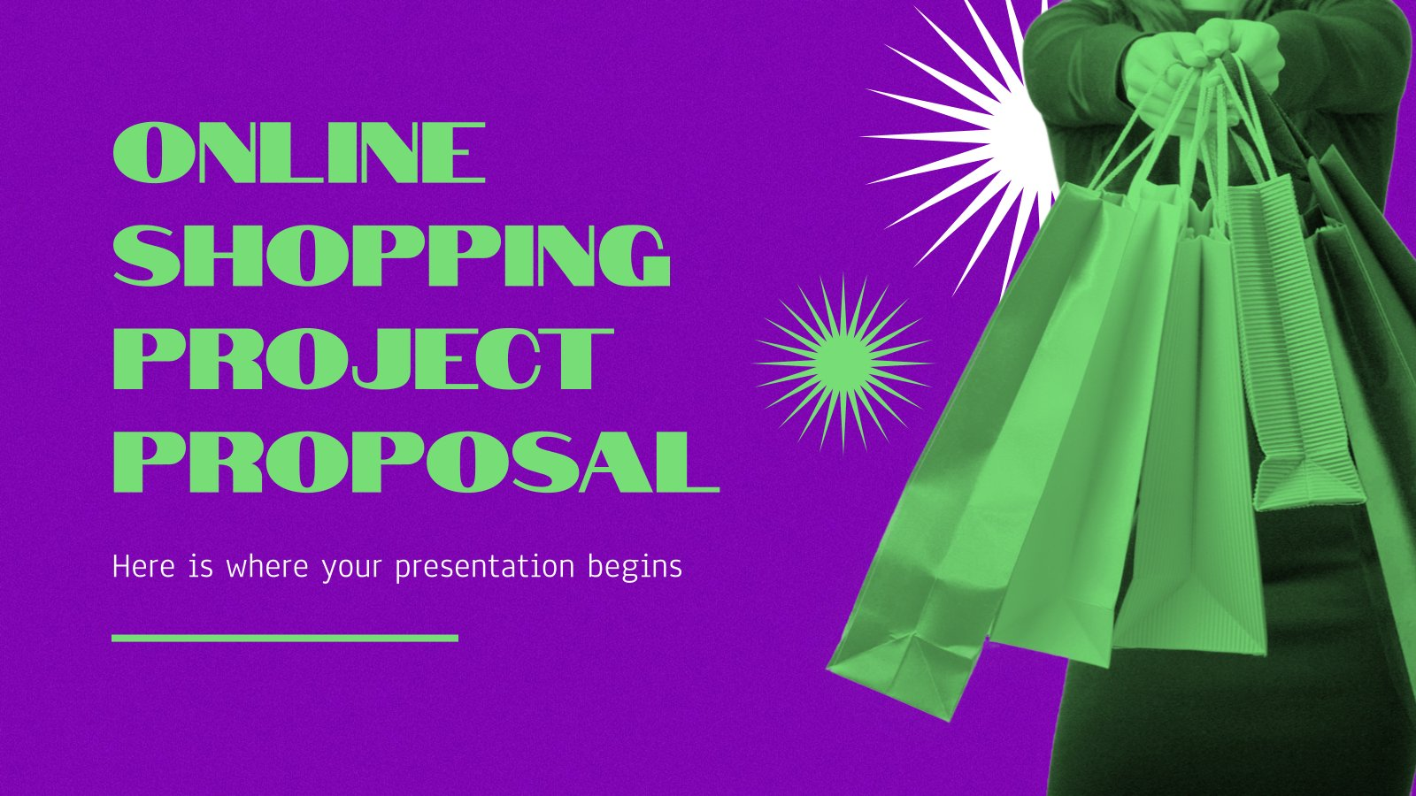 Online Shopping Project Proposal presentation template