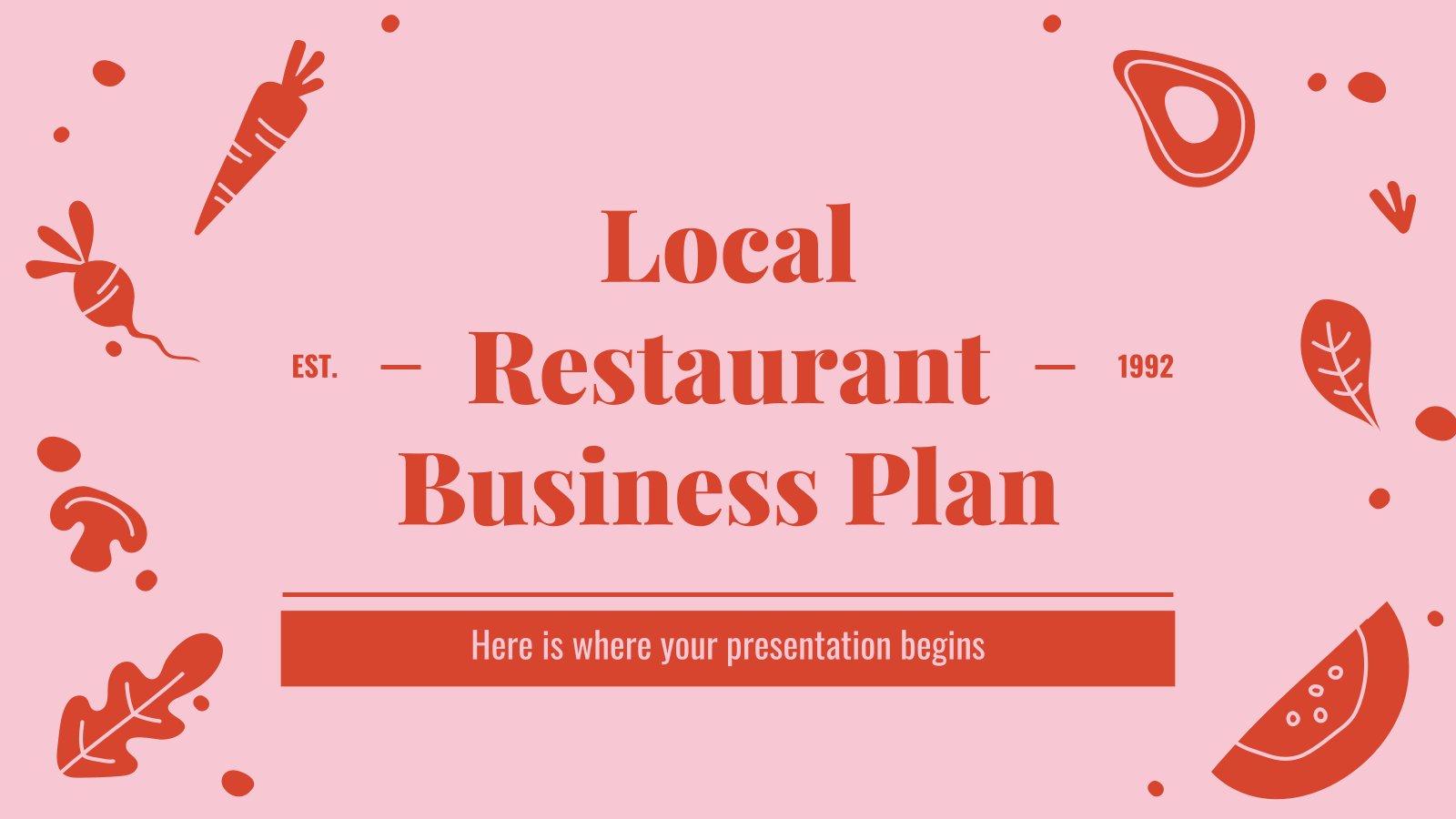 Plan d'affaires pour un restaurant local : Modèles de présentation