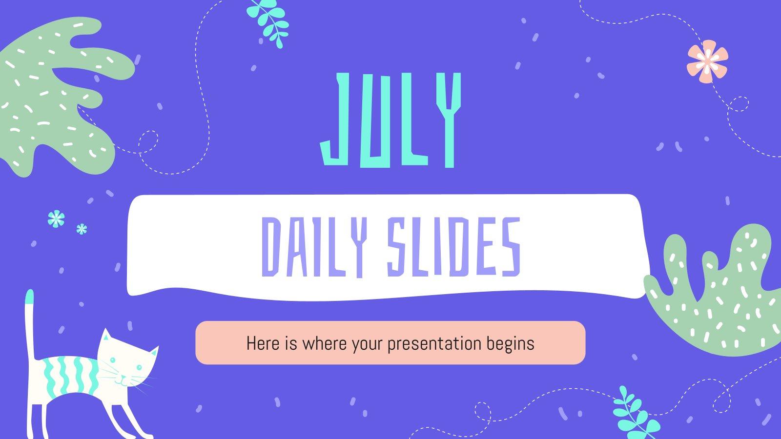 Modelo de apresentação Slides para julho
