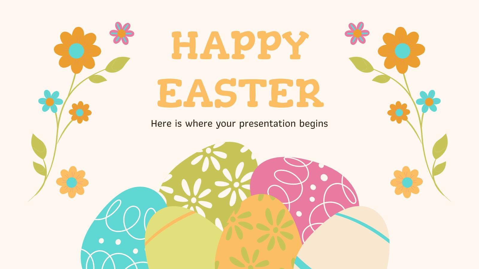 Joyeuses Pâques : Modèles de présentation