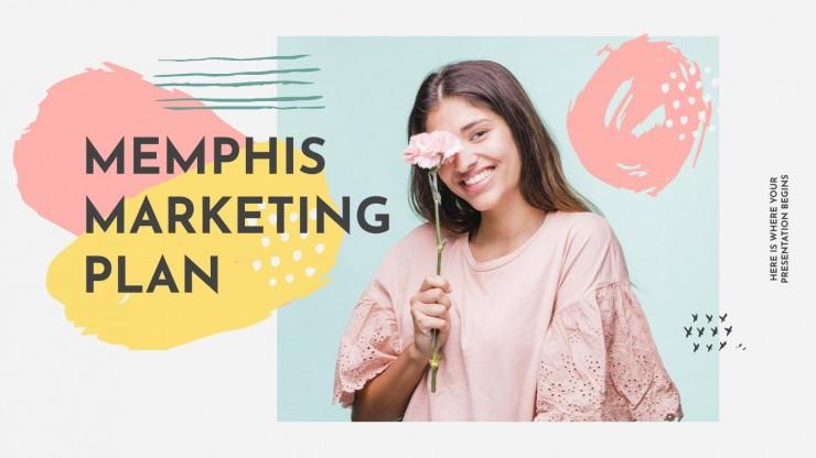 Memphis Marketing-Plan Präsentationsvorlage
