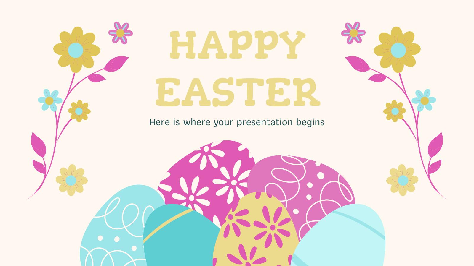 Modelo de apresentação Feliz Páscoa