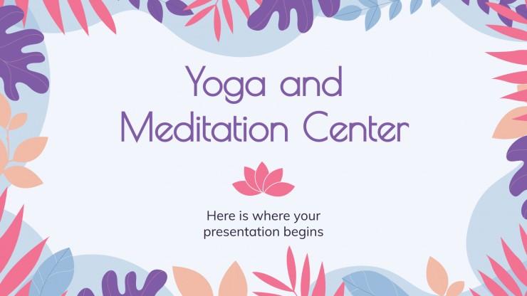 Plantilla de presentación Centro de yoga y meditación