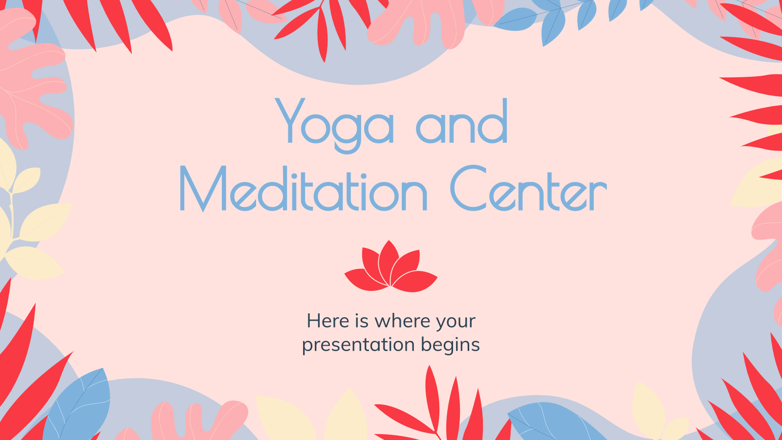 Yoga and Meditation Center presentation template
