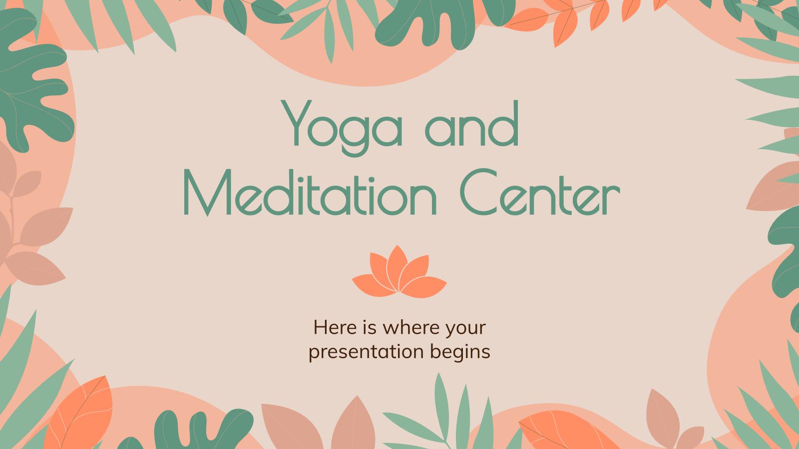 Modelo de apresentação Centro de ioga e meditação