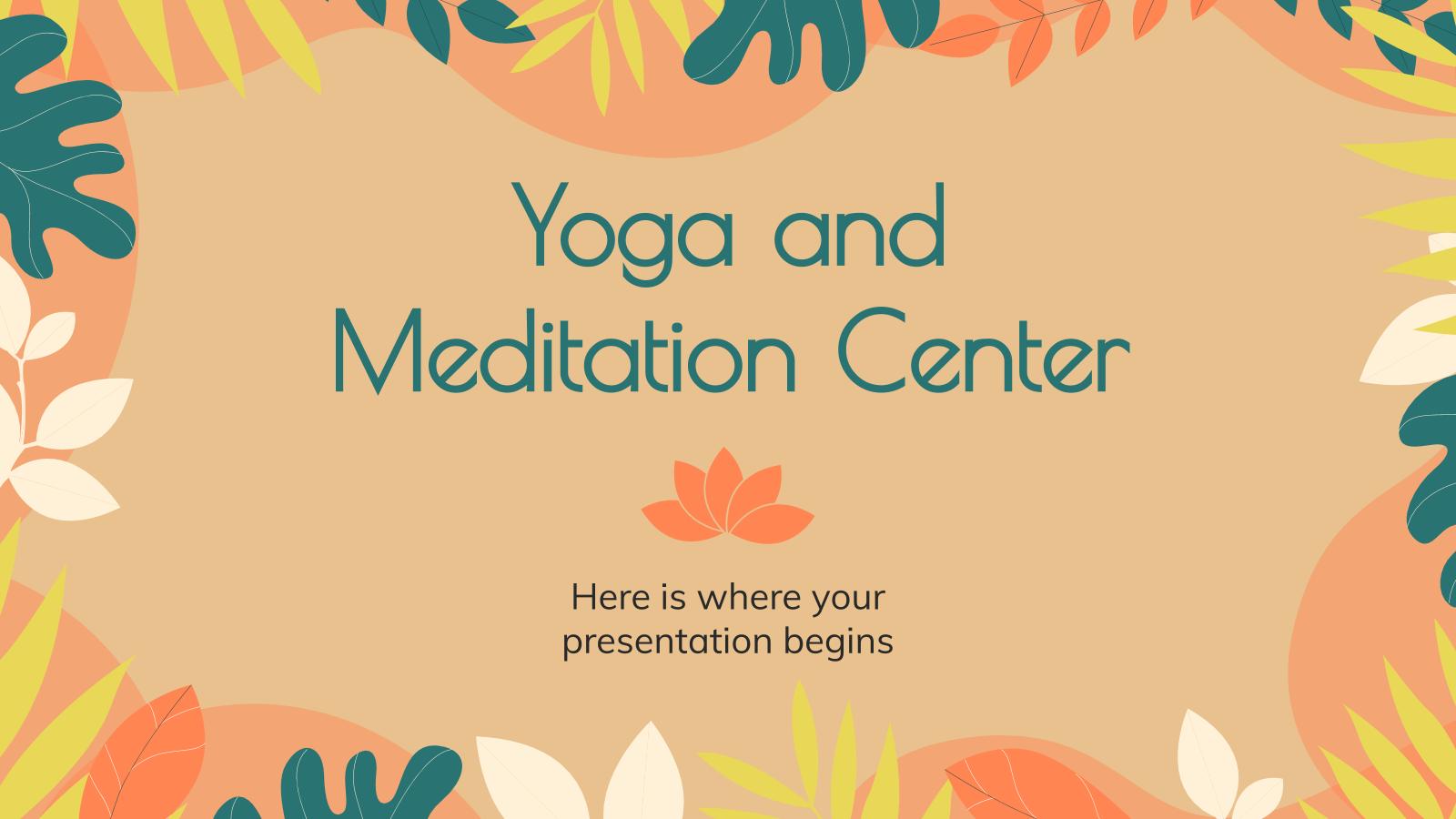 Yoga and Meditation Center presentation template
