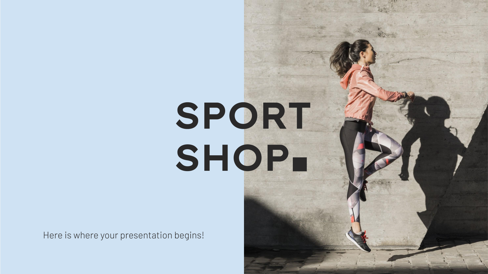 Plantilla de presentación Tienda de deportes