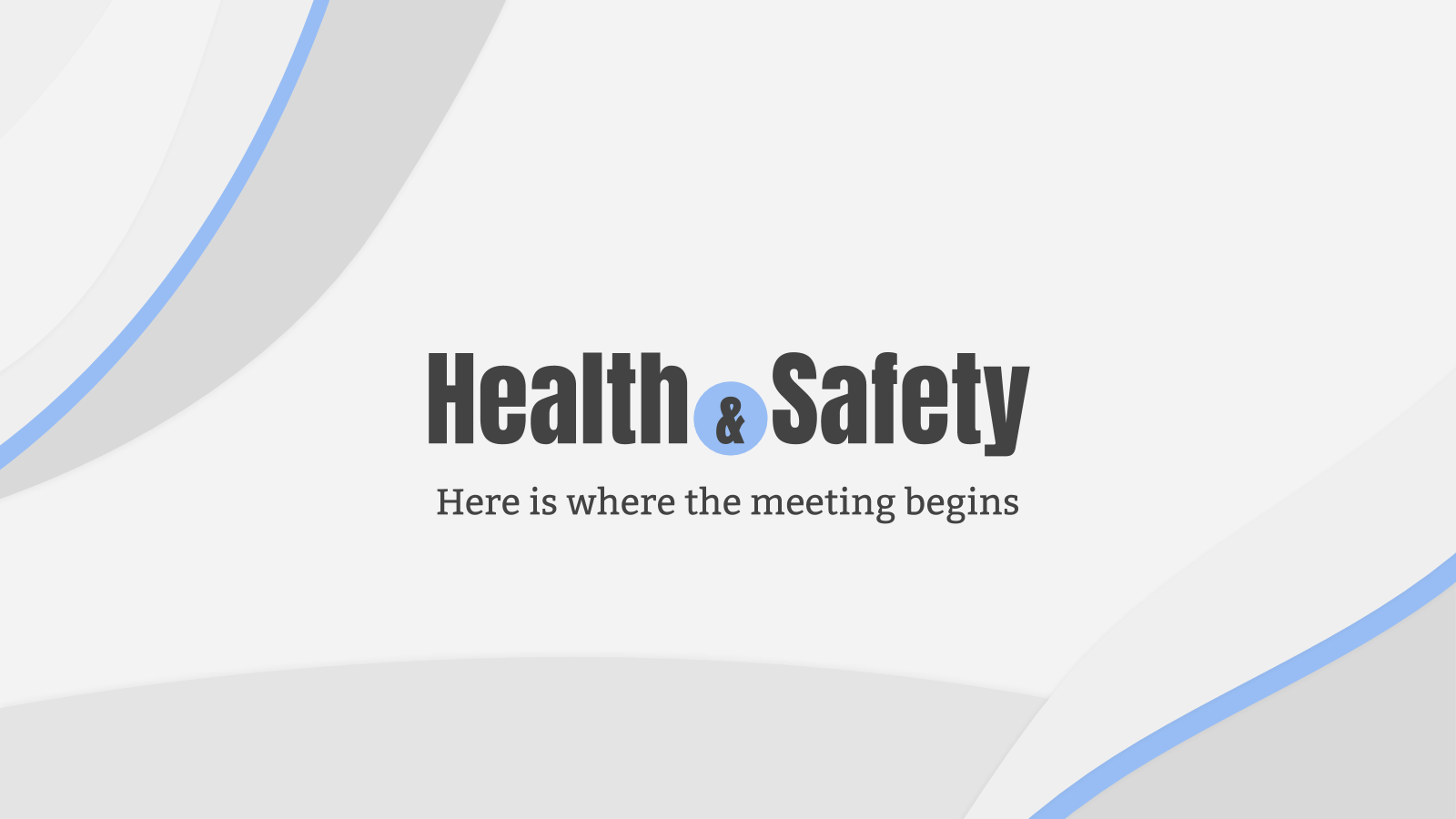 Health & Safety Meeting presentation template