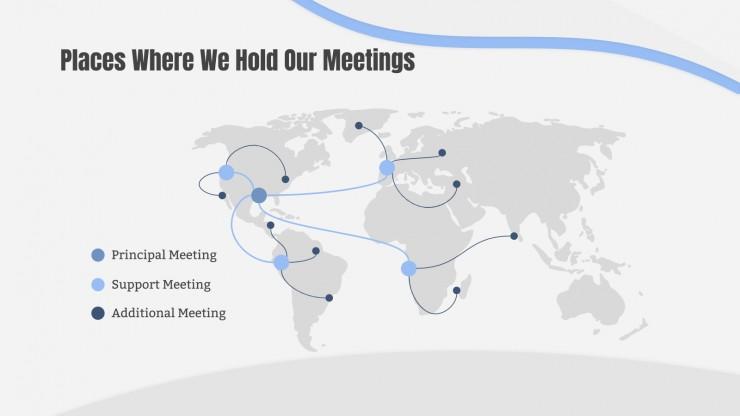 Plantilla de presentación Reunión sobre riesgos laborales