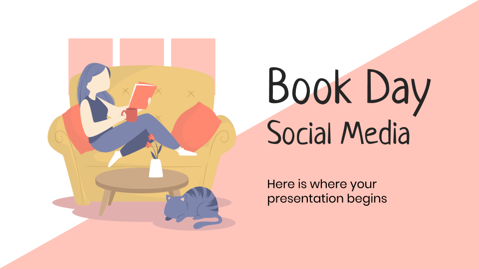 Modelo de apresentação Mídias sociais no Dia do Livro