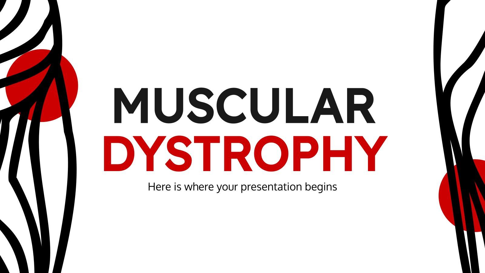 Muskeldystrophie Präsentationsvorlage