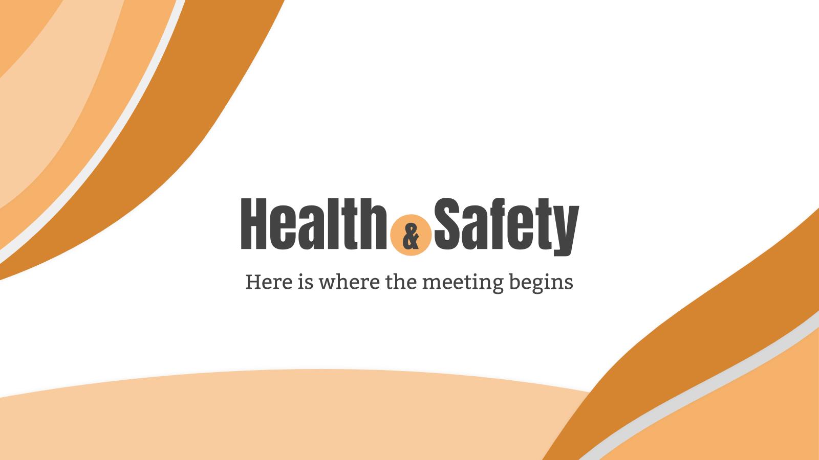 Modelo de apresentação Reunião sobre saúde e segurança