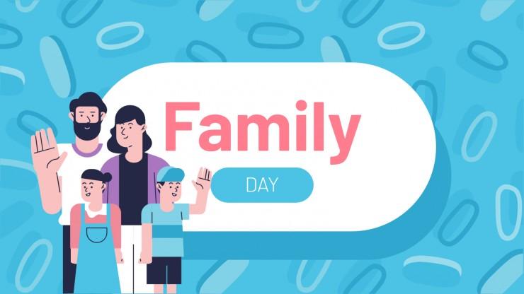 Plantilla de presentación Día de la Familia