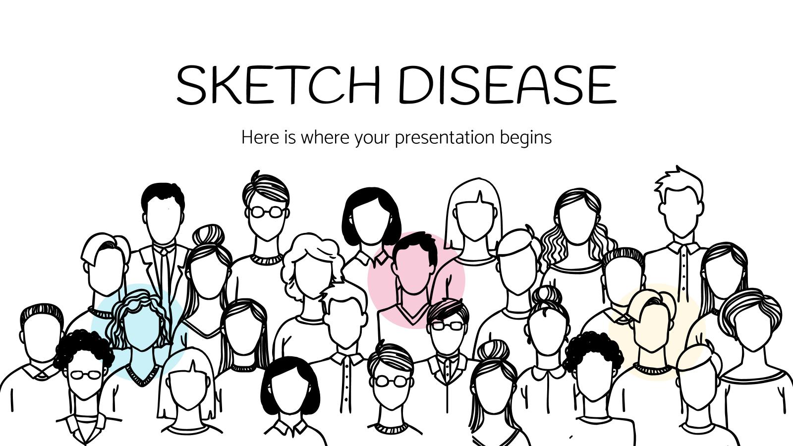 Plantilla de presentación Diapositivas médicas con bocetos