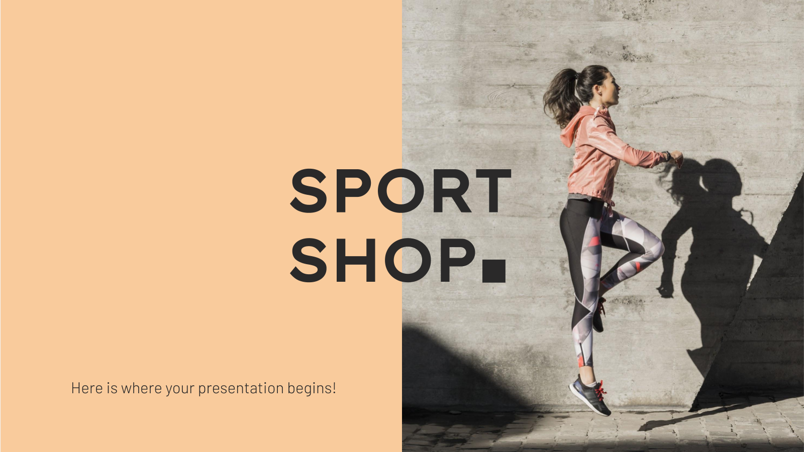 Sport Shop Business Plan presentation template