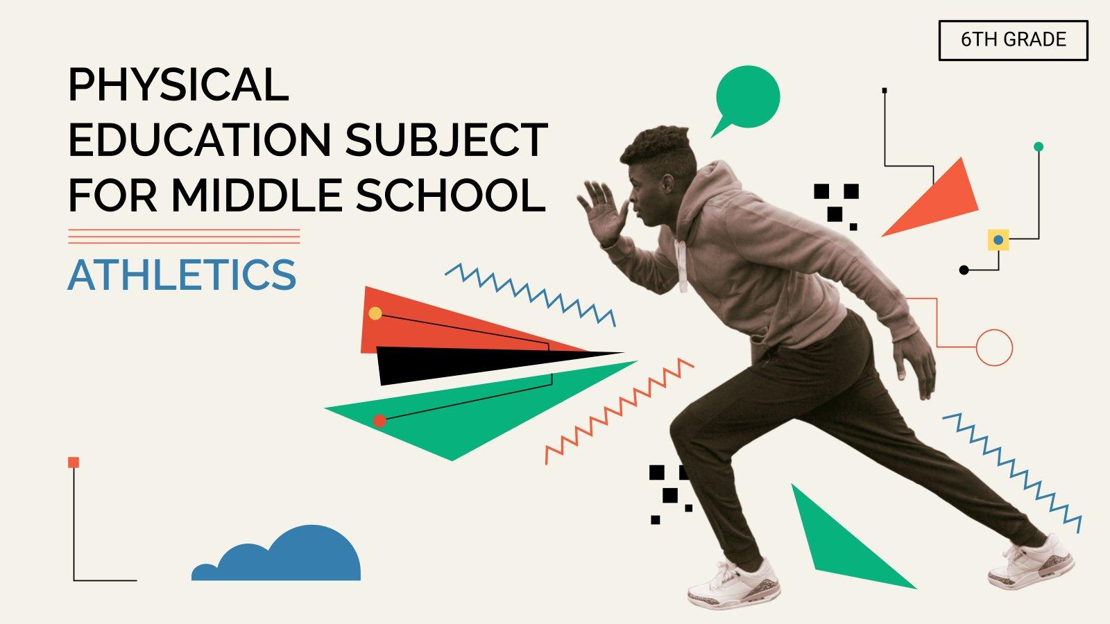 Plantilla de presentación Educación física para secundaria: Atletismo