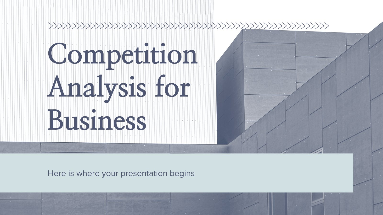 Competition Analysis for Business presentation template
