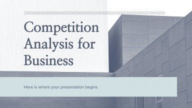Plantilla de presentación Análisis de la competencia