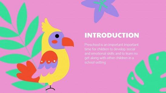 Emotional Intelligence Subject for Pre-K: Self-Regulation presentation template