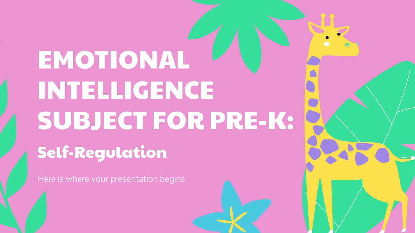 Intelligence émotionnelle pour la maternelle : Autorégulation : Modèles de présentation