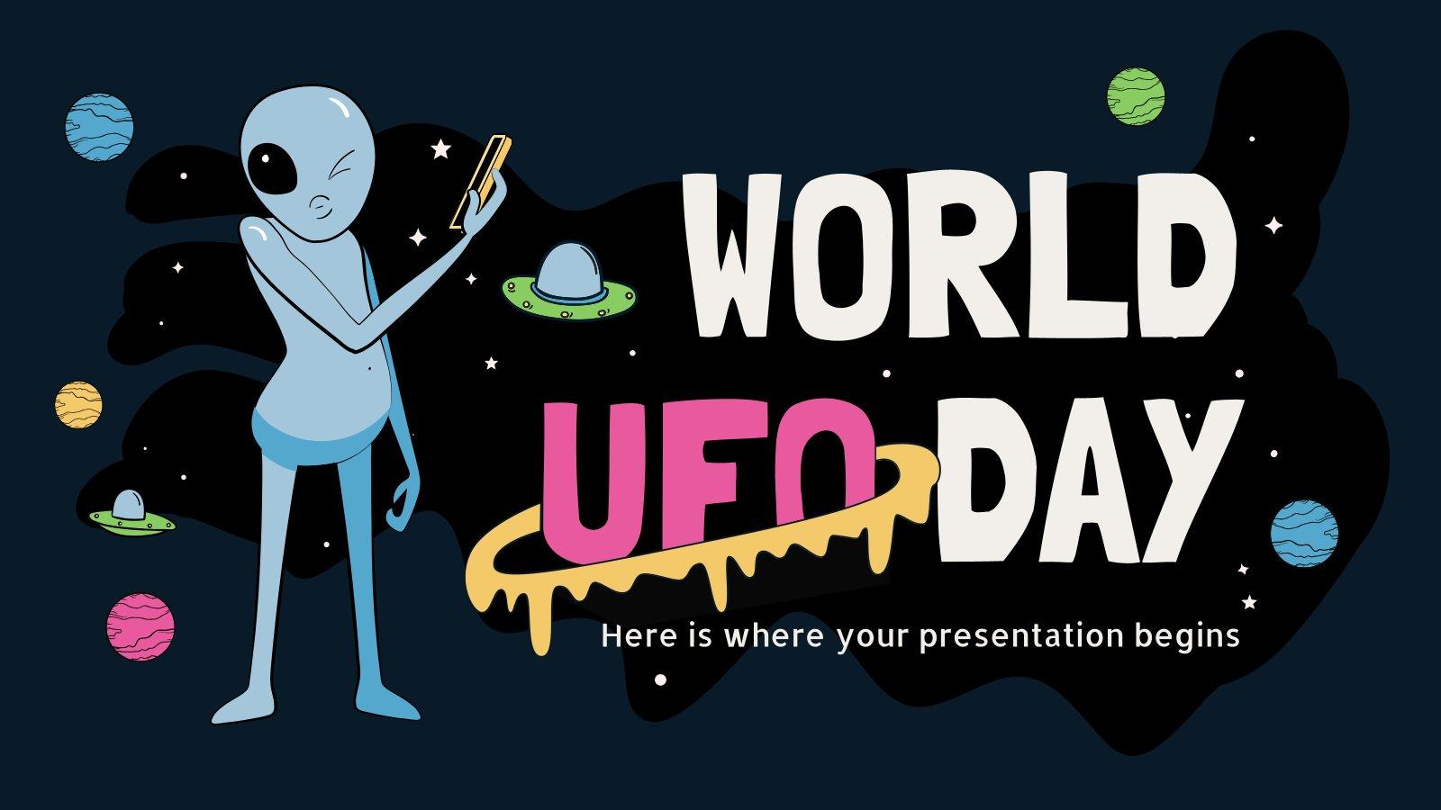 Welt-UFO-Tag Präsentationsvorlage