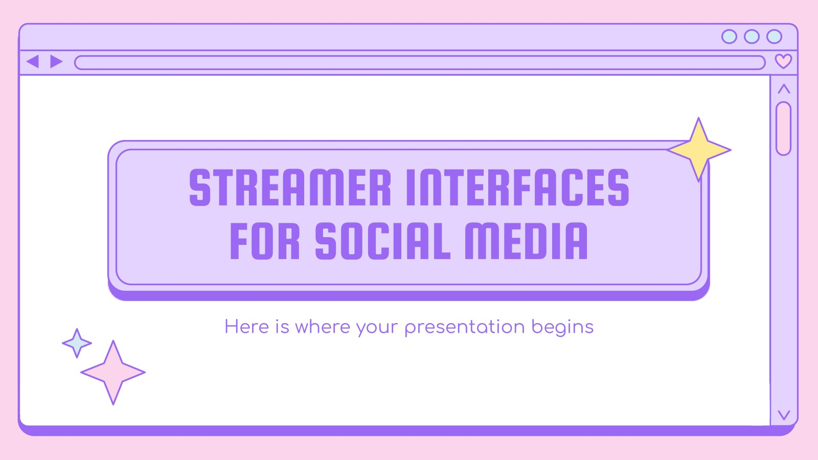 Streamer Interfaces for Social Media presentation template