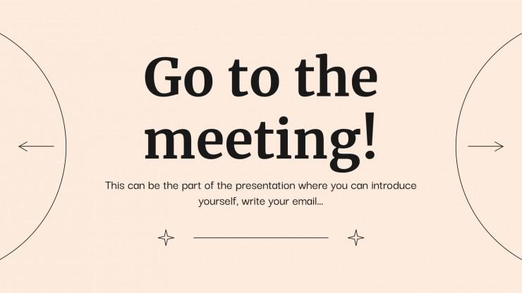 Professionelles Business Meeting Präsentationsvorlage