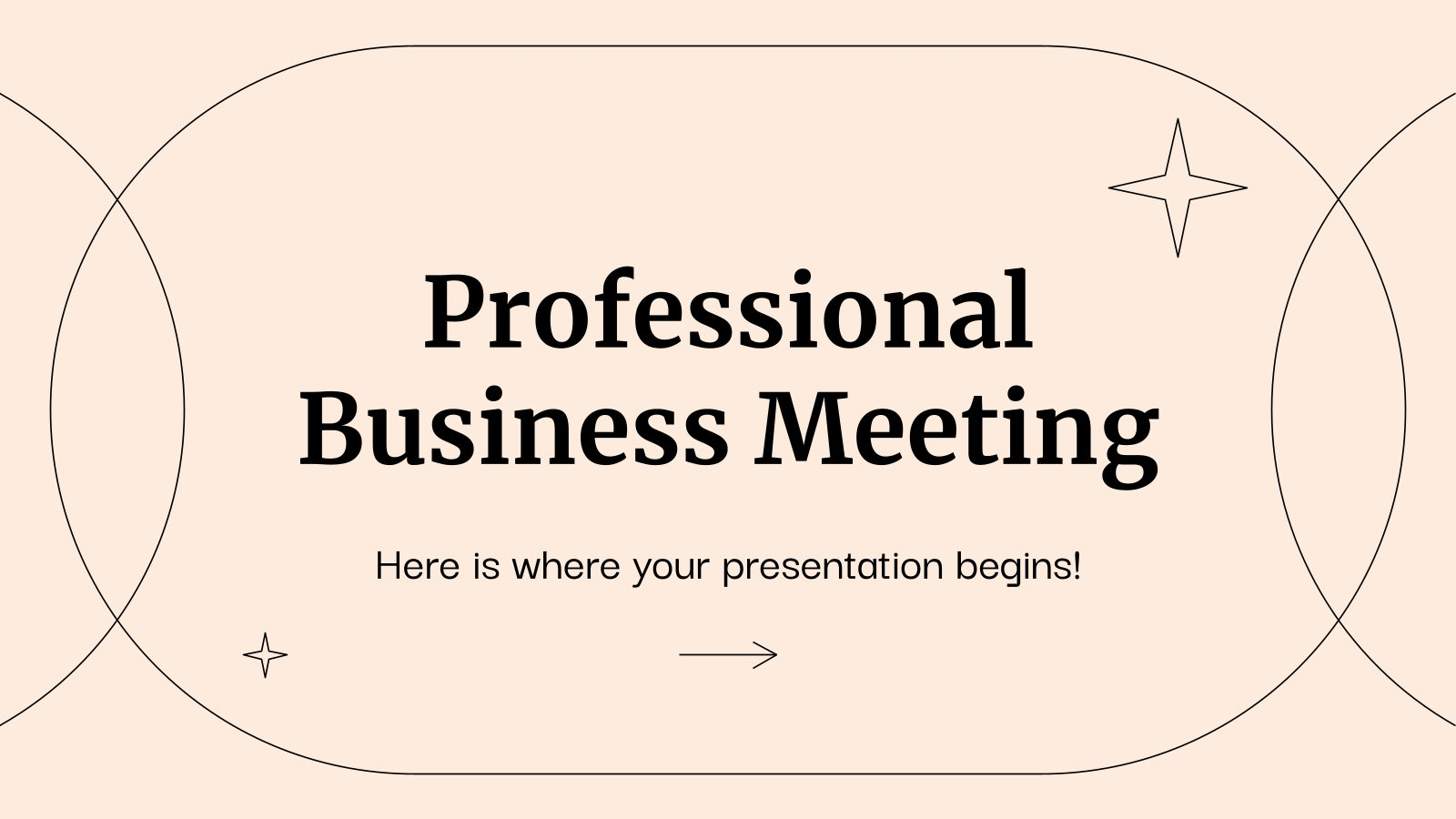 Professional Business Meeting presentation template