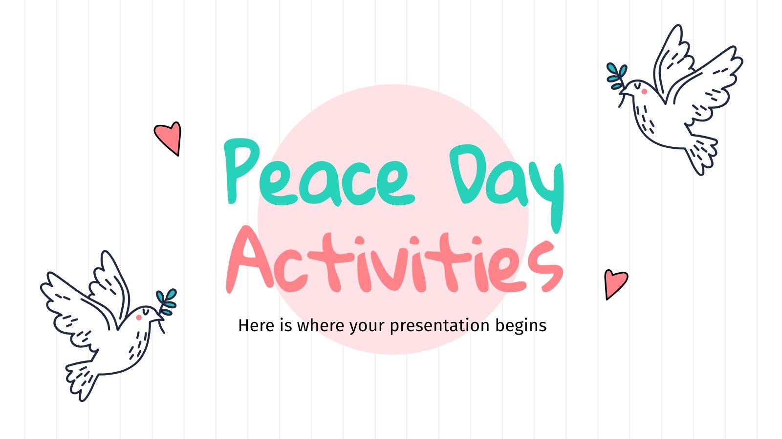 Modelo de apresentação Atividades do Dia da Paz
