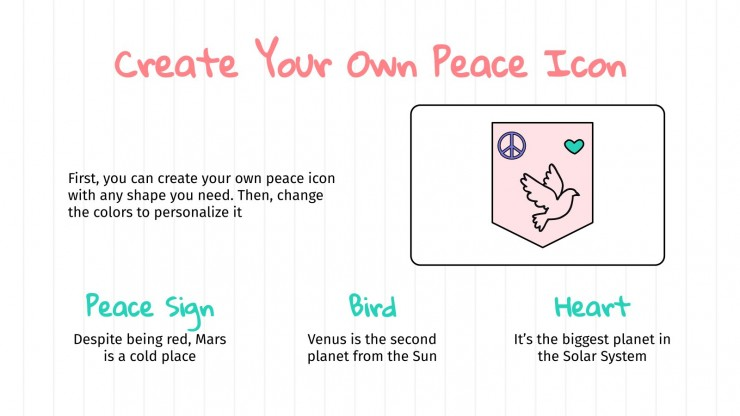 Peace Day Activities presentation template
