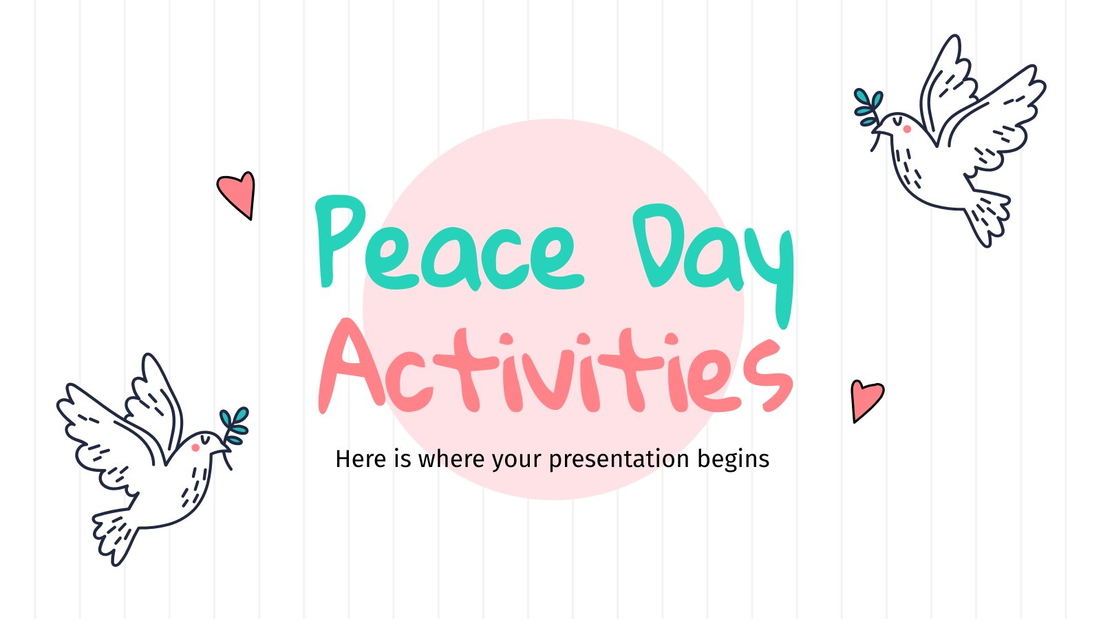 Activités de la Journée de la paix : Modèles de présentation