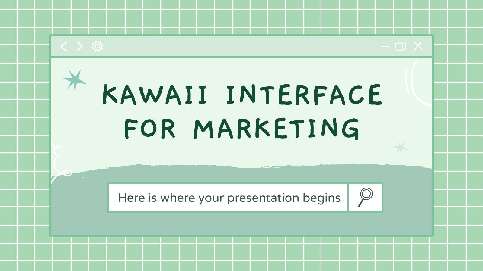 Kawaii Interface für Marketing Präsentationsvorlage