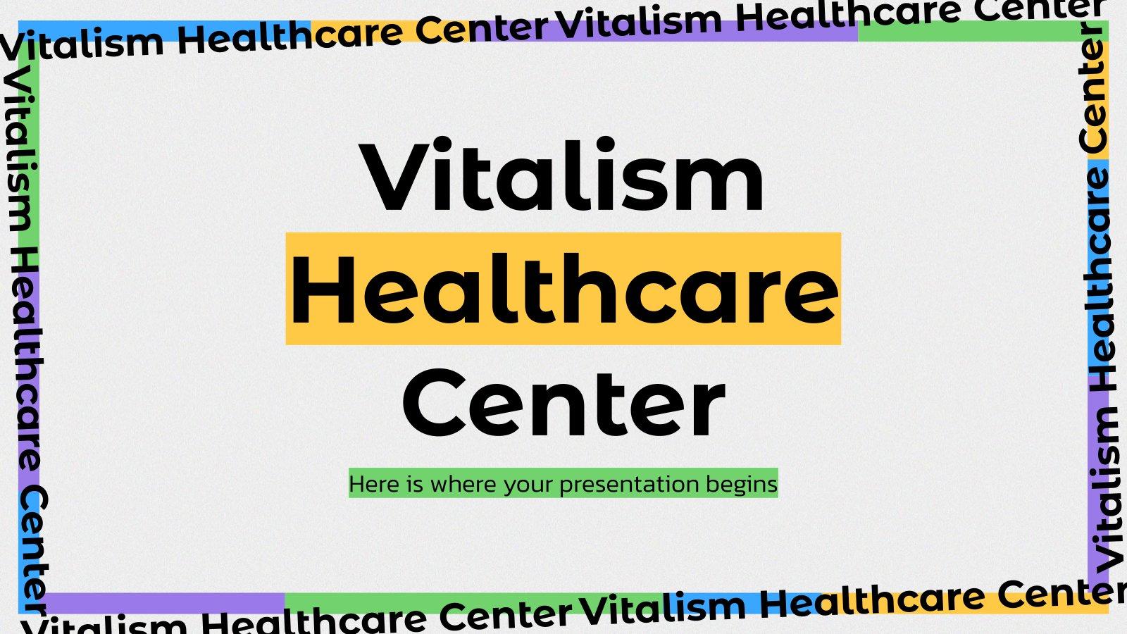 Vitalism Healthcare Center presentation template