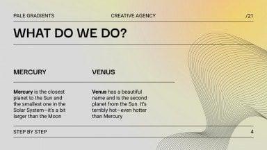 Pale Gradients Creative Agency presentation template