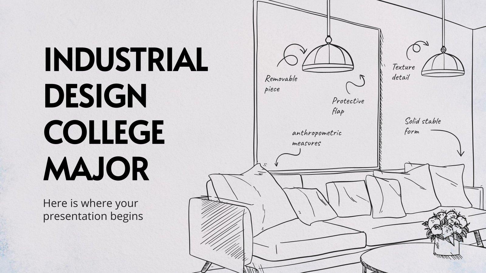 Industrial Design College Major presentation template