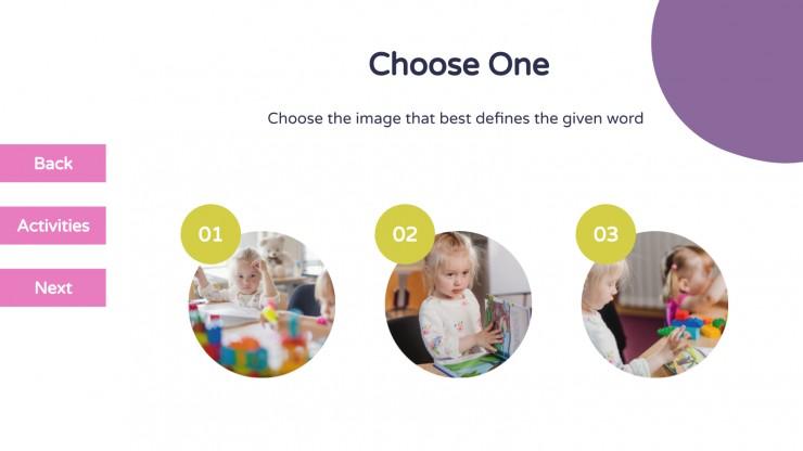 Pre-K Digital Choice Board presentation template