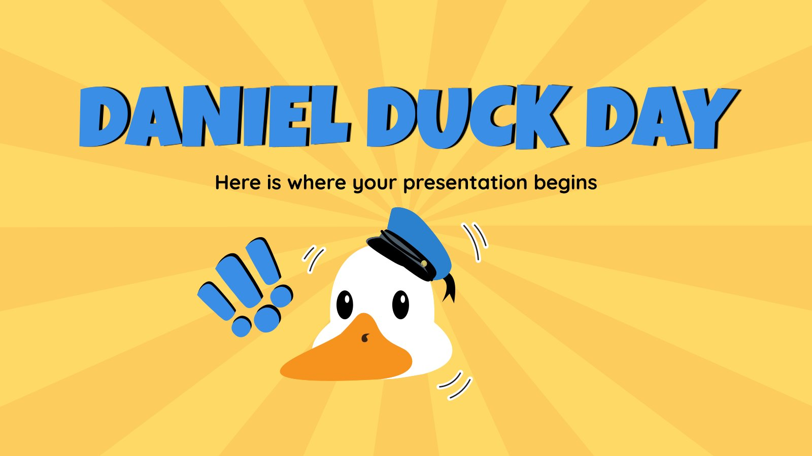 Daniel Duck Day presentation template